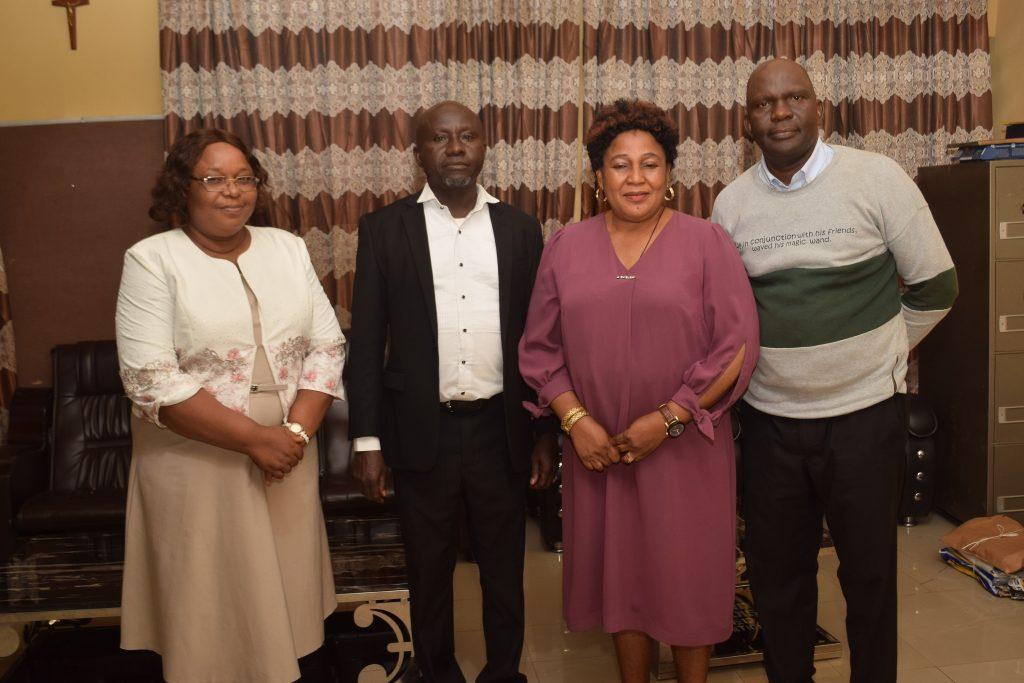 L-R: The Registrar, Mrs Nkah. The Bursar, Comrade Echedo, the Provost, Dr Tessy Okoli and the Libraria